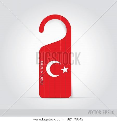 Made In Turkey   Tag For Door