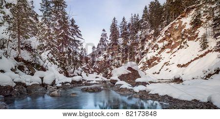small river between stones