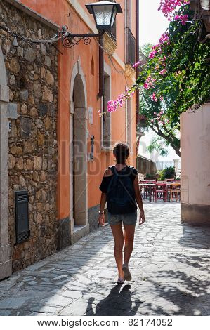 Walking through Castelmola