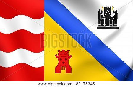 Flag Of Sluis, Netherlands.
