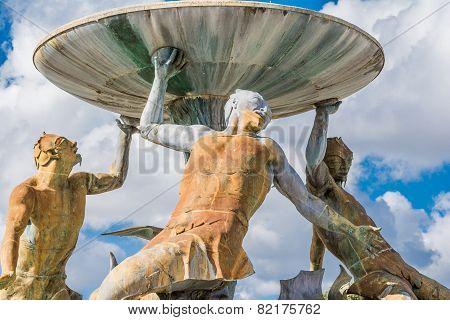 Triton Fountain detail, Malta