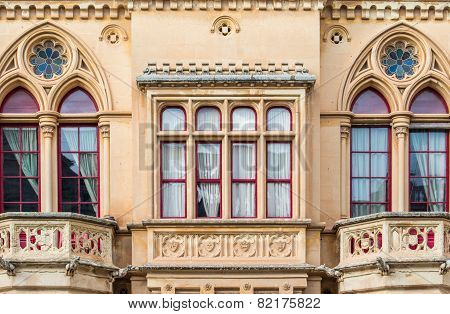 Gothic style building, Mdina, Malta