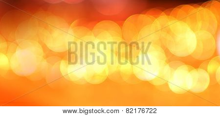 Abstract Orange Bokeh