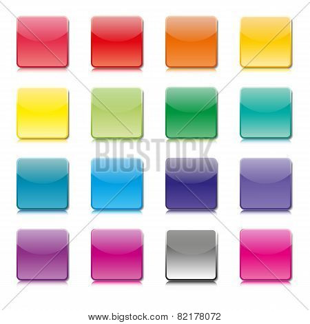 Set Of Templates Of Color Icons, Vector Illustration.