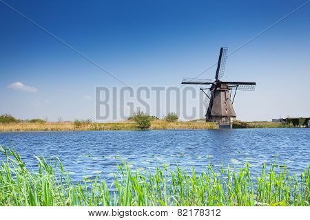 Windmill for arrogation in Netherlands, Kinderdijk