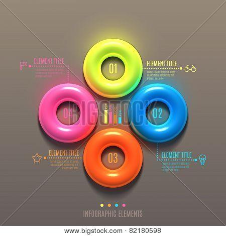 Business Infographics torus concept.
