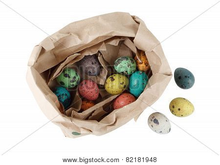 Quail Eggs In A Paper Package