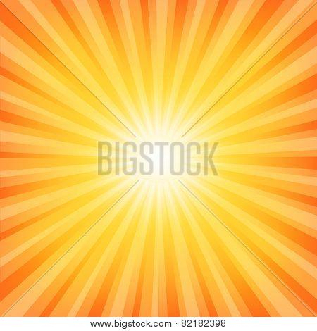 Sun Sunburst Hot Pattern
