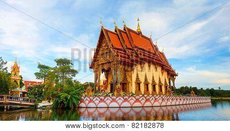Wat Plai Laem. Buddhistic Temple On Koh Samui, Thailand