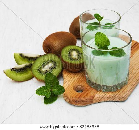 Kiwi Smoothie In Glass