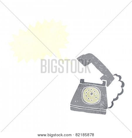 cartoon ringing telephone with speech bubble