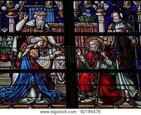 Wedding Of Joseph And Mary - Stained Glass