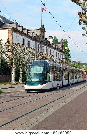 Tram In Strasbourg, France