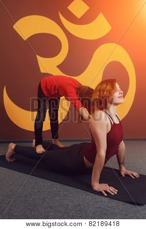 Mother and child yoga practice