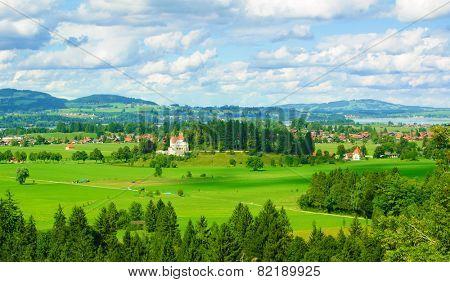 High View of Schwangau Village and Forggensee from Neuschwanstein Castle