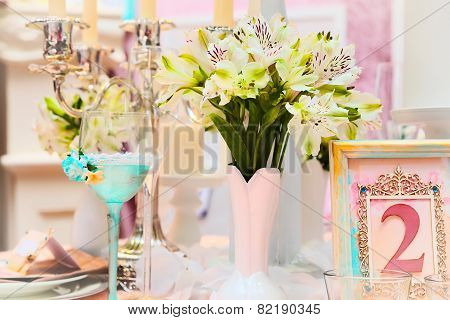 Beautiful decorations for a wedding