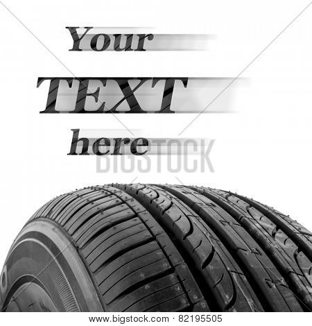 black isolation rubber tire, on the white backgrounds