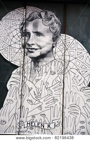 Street art Montreal Helen Keller