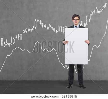 Placard With Drawing Forex Chart