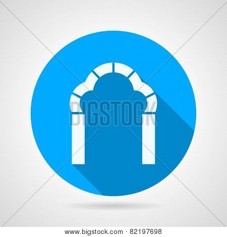 Round flat vector icon for trefoil arch