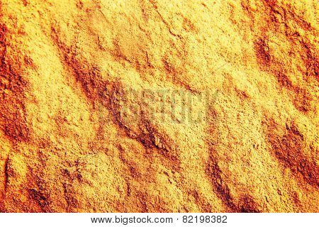 Macro shot of curcuma spice.