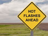 picture of flashing  - Caution Sign  - JPG