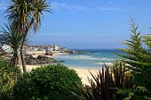 stock photo of st ives  - Beaches at St Ives in Cornwall England - JPG