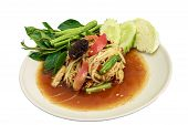 picture of green papaya salad  - green papaya salad  - JPG