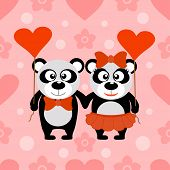 stock photo of panda  - Valentine - JPG