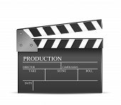 picture of clapper board  - Vector movie clapper board - JPG