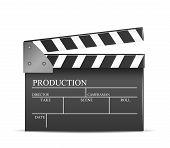 image of clapper board  - Vector movie clapper board - JPG