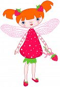picture of fairy tail  - Illustration of cute strawberry fairy - JPG