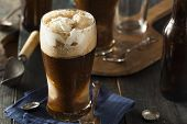 stock photo of frozen  - Frozen Dark Stout Beer Float with Ice Cream - JPG