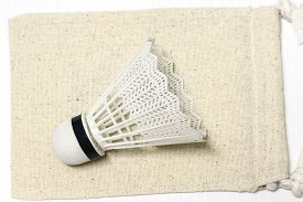 pic of game-cock  - equipment badminton Shutter Cock on a white background, ** Note: Soft Focus at 100%, best at smaller sizes - JPG
