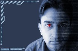 picture of cyborg  - Concept of Realistic looking cyborg or artificial intelligence - JPG