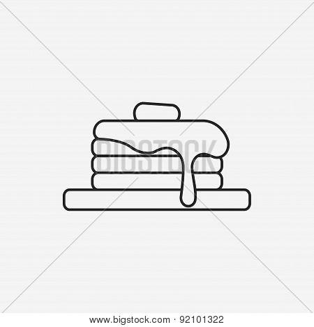 Pancake Line Icon