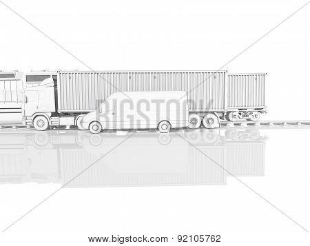 logistic concept. 3d rendering
