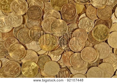 Ukrainian Coins Close Up