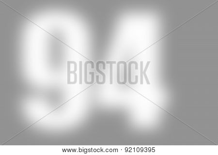 gray abstract background with number 94