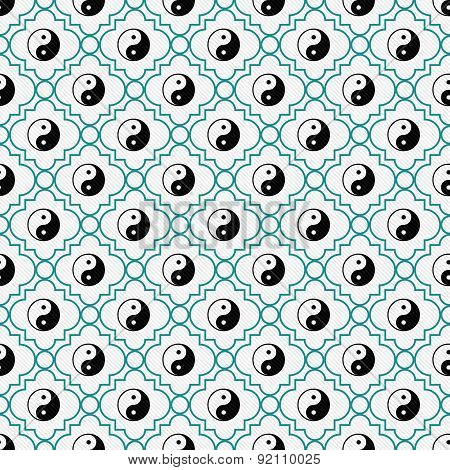Black And White Yin Yang Tile Pattern Repeat Background