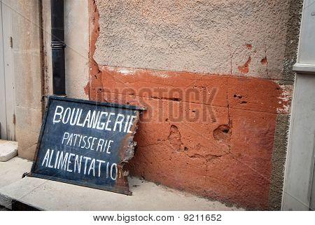 Bakery Sign On Rusty Black Board