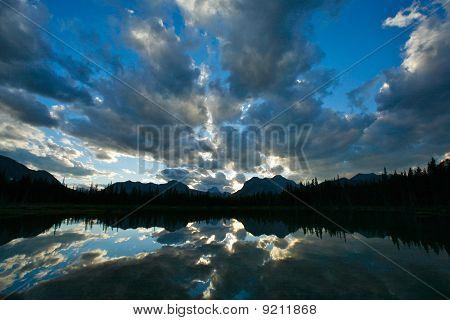 Buller Lake Mountain Sunset