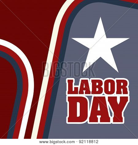 labor day over brown background vector illustration