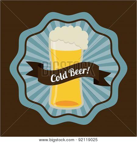 beer design over brown background vector illustration