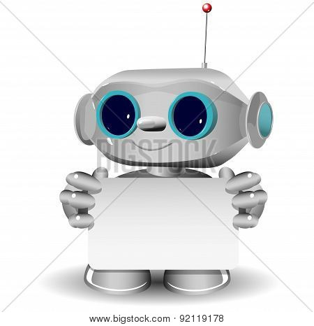 White Robot With A White Background