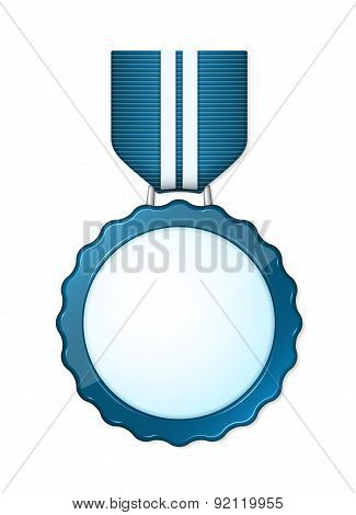 Blue Shiny Medal