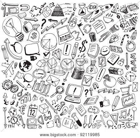 Business Consept Doodles Vector Illustration