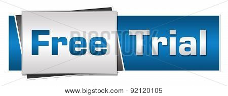 Free Trial Blue Grey Horizontal