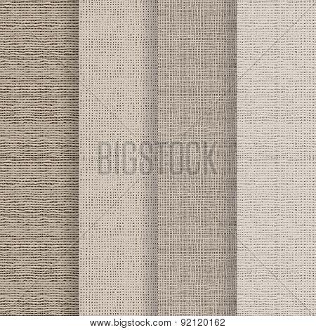 Set Of 4 Seamless Textures - Rough Fabric