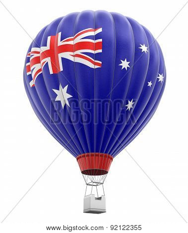 Hot Air Balloon with Australian Flag (clipping path included)